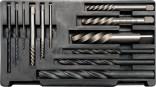 Vytáčeče zalomených šroubů YATO sada 12ks 3-24mm  profesionální provedení YT-0591
