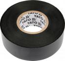 Izolační páska elektrikářská YATO PVC 12mmx10m černá  YT-8152