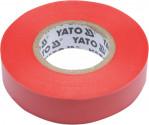 Izolační páska elktrikářská YATO PVC 15mmx20m červená  YT-81592