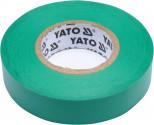 Izolační páska elektrikářská YATO PVC 15mmx20 zelená YT-81595