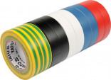 Izolační pásky elektrikářské YATO PVC 19mmx20m barevné balení 10ks YT-8173
