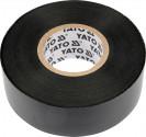 Izolační páska elektrikářská YATO PVC 25mmx20m černá  YT-8174