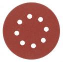 Kruhový výsek VOREL 125mm P60 se suchým zipem 5ks s otvory 08576