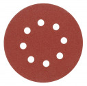 Kruhový výsek VOREL 125mm P80 se suchým zipem 5ks s otvory  08578