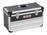 Hliníkový kufr KREATOR 523x240x305mm 2 zásuvky KRT640602B