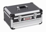 Hliníkový kufr KREATOR 430x300x205mm 1 zásuvka KRT640601B