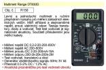Multimetr digitální HADEX s akustickou signalizací  DT830D
