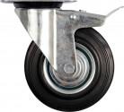 Kolečko otočné s brzdou VOREL 60kg, gumové 100/27/130mm TO-87322
