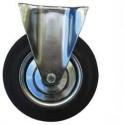 Kolo gumové černé ERBA pevná vidlice 200mm, 230kg  ER-33104