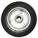 Kolo gumové černé ERBA 100mm, 12,5mm, 80kg  ER-33141