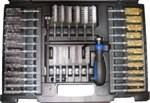 Sada kartáčků AIP  na vstřiky 38 dílů ( ocel, mosaz, nylon ) AIP19015