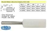 Brusné tělísko válcové TYROLIT se stopkou 6mm bílé 12x25mm 413425