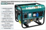 Generátor proudu benzínový HERON 1,1kW, jednofázový 8896109