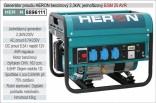 Generátor proudu benzínový HERON 2,3kW, jednofázový 8896111