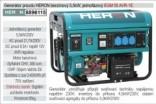 Generátor proudu benzínový  HERON 5,5kW, jednofázový, - elektrický start 8896115
