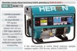 Generátor proudu benzínový HERON 6,5kW, jednofázový 8896119