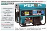 Generátor proudu benzínový HERON 6,5kW, jednofázový - elektrický start 8896121