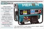 Generátor proudu benzínový HERON 6,5kW, třífázový + jednofázový - elektrický start 8896120