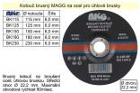 Brusný kotouč MAGG 125x6mm na kov  BK125