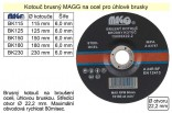 Brusný kotouč MAGG 180x6mm na kov   BK180