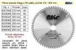 Kotouč pilový vidiový MAGG 600x60zx30mm  9360060