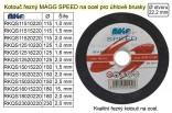 Řezný kotouč MAGG 115x1,0mm na kov RKQS11510220