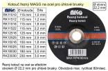 Řezný kotouč MAGG 115x2,2mm na kov  RK11522
