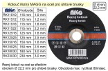 Řezný kotouč MAGG 150x2,5mm na kov  RK15025