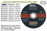Řezný kotouč MAGG 125x1,0mm na nerez RN12510