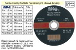 Řezný kotouč MAGG 230x2,2mm na nerez  RN23022