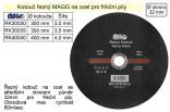 Řezný kotouč MAGG 400x4,0x32mm na ocel pro frikční pily  RK40040