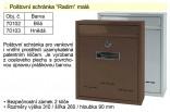 Poštovní schránka Radim malá bílá 70102