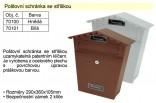 Poštovní schránka se stříškou bílá 70101