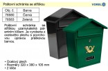Poštovní schránka se stříškou VOREL černá 78580