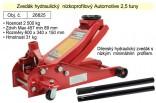 Zvedák hydraulický AUTOMOTIVE 2,5t podjezdový nízkoprofilový  26825